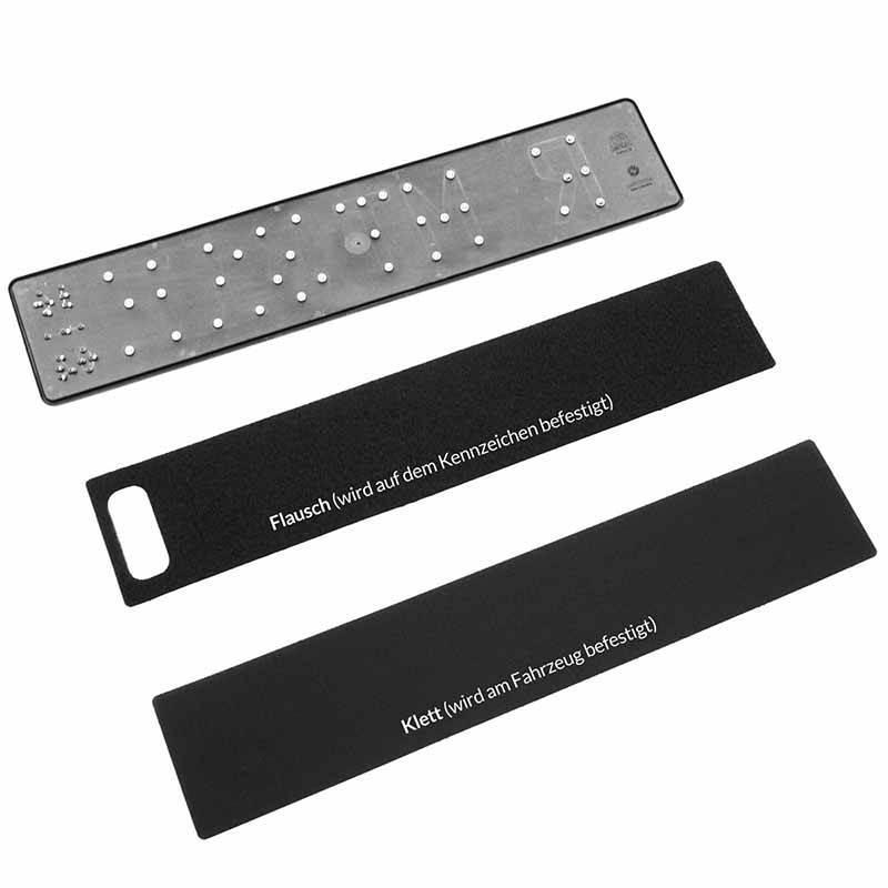 Kennzeichenhalterung - individuell kürzbar - speziell für kurze Autokennzeichen geeignet.