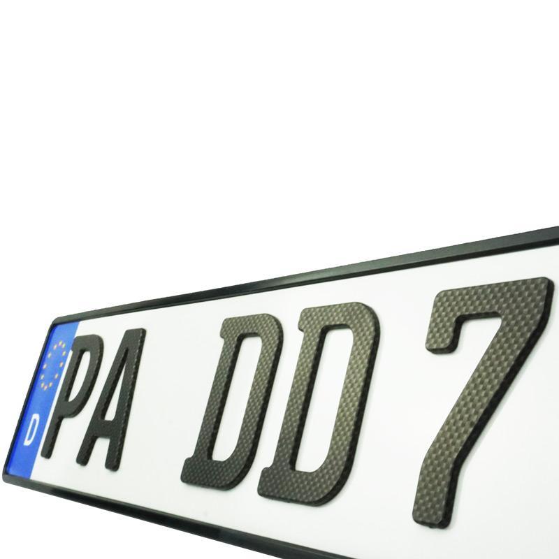 3D Saisonkennzeichen Carbonoptik Matt 520 mm