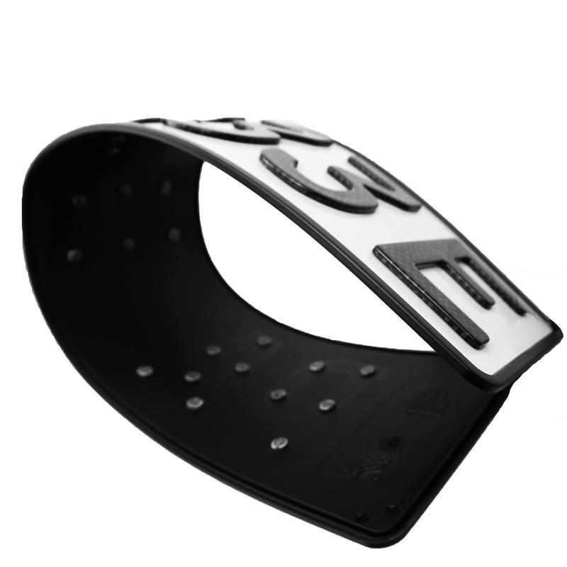 3D E-Kennzeichen Carbonoptik Hochglanz 520 mm