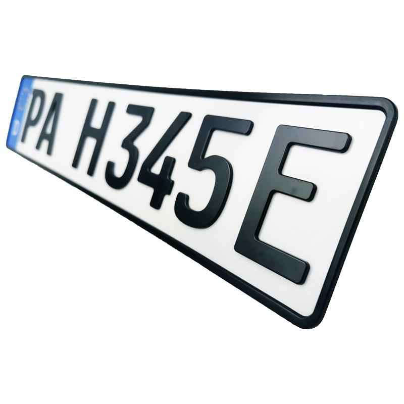 3D E-Kennzeichen Matt 520 mm