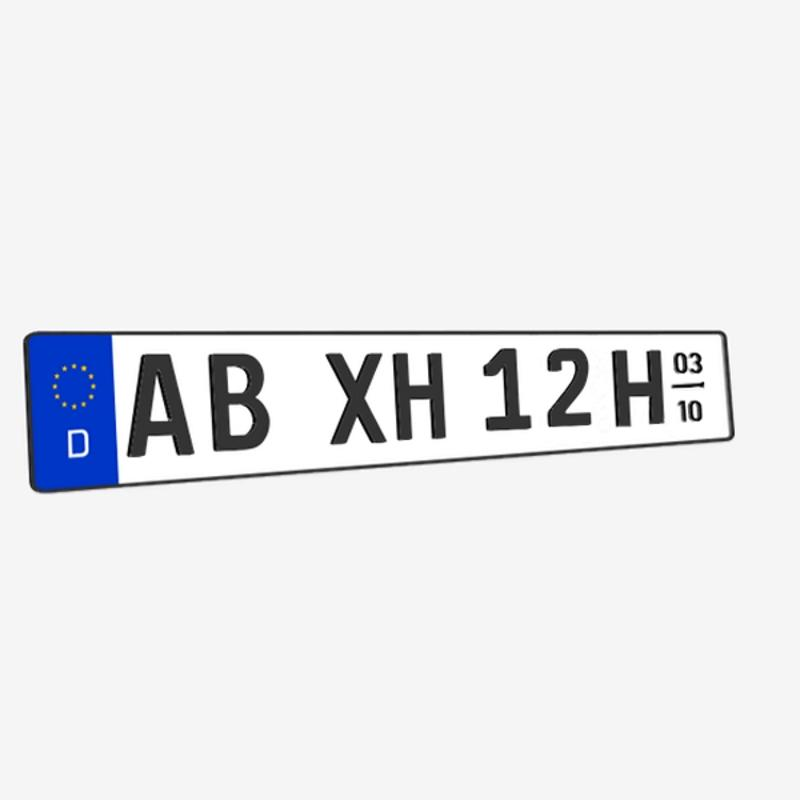 3D H-Kennzeichen mit Saison Matt 520 mm