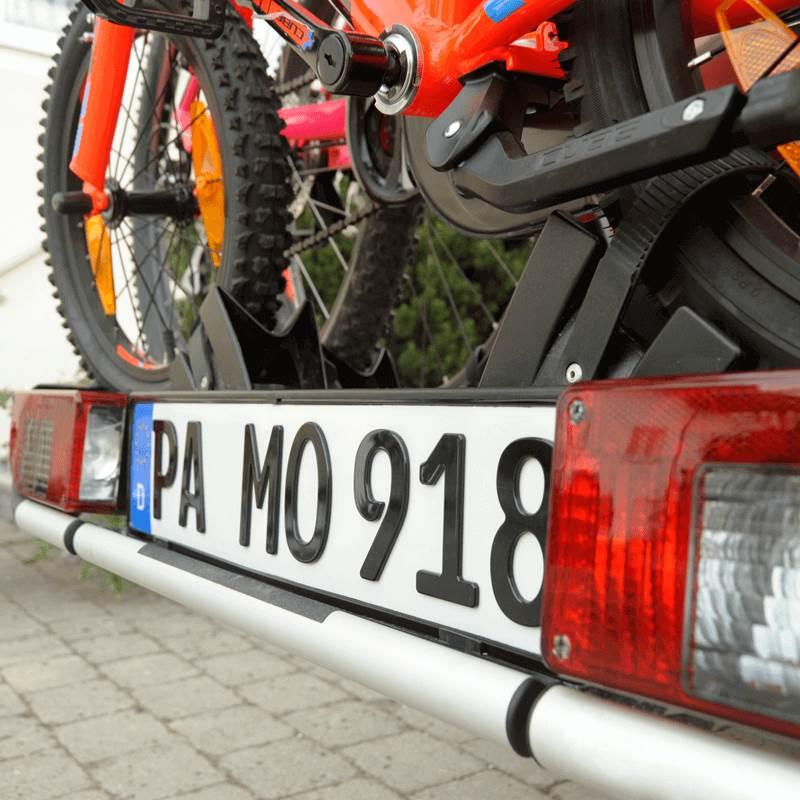 3D Kennzeichen für Fahrradträger Hochglanz 520 mm