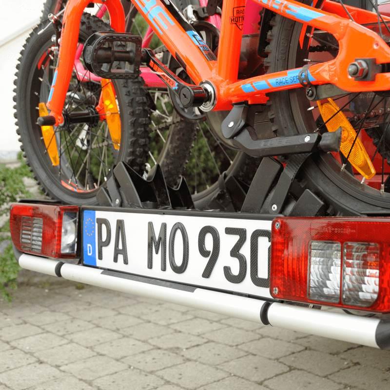 3D Kennzeichen für Fahrradträger Carbonoptik Hochglanz 520 mm