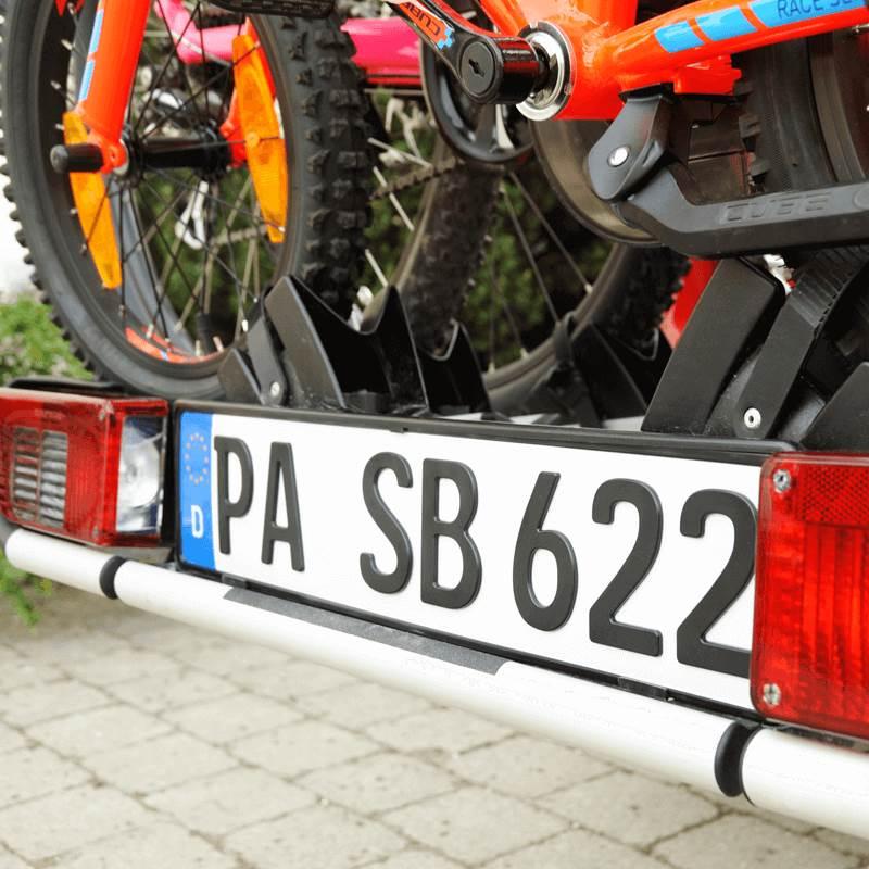 3D Kennzeichen für Fahrradträger Matt 520 mm