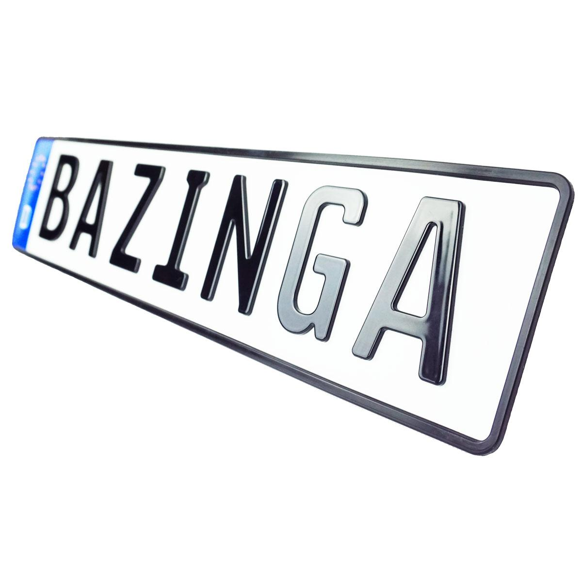 3D Namenskennzeichen Hochglanz 520 mm