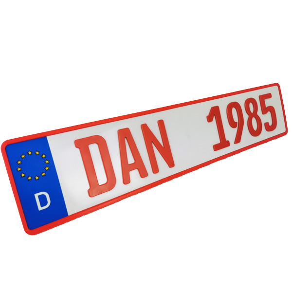3D Namenskennzeichen Rot 520 mm