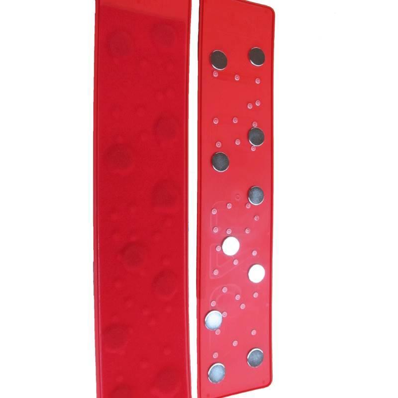 3D Händlerkennzeichen magnetisch Rot 520 mm