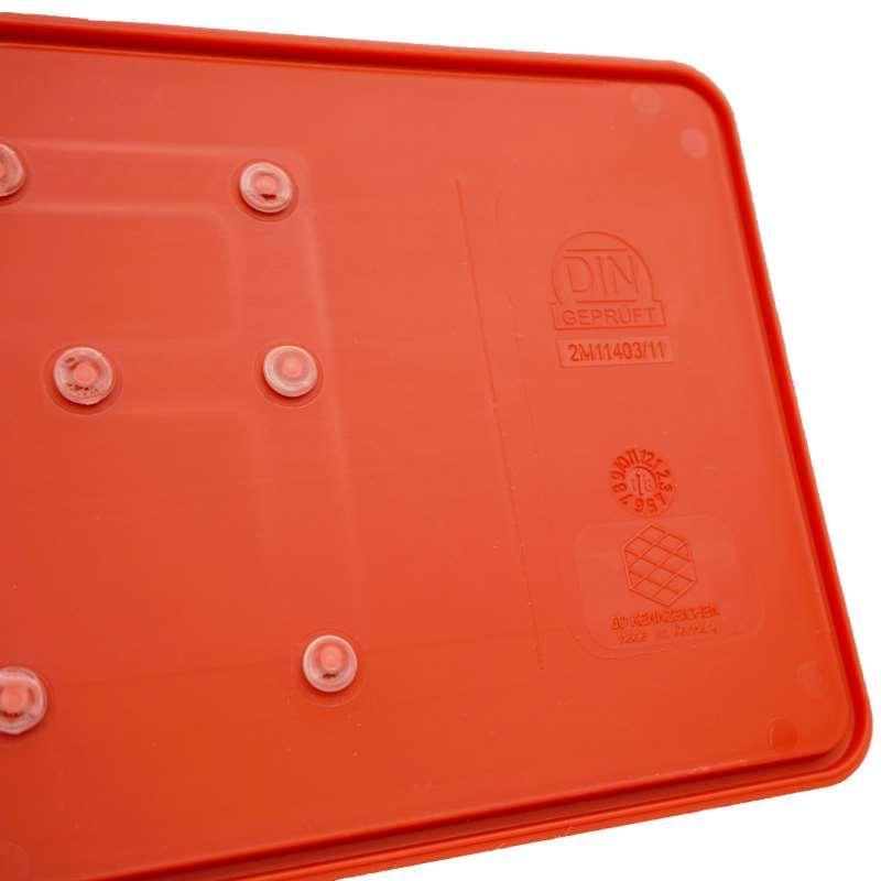 3D Händlerkennzeichen Rot kurz