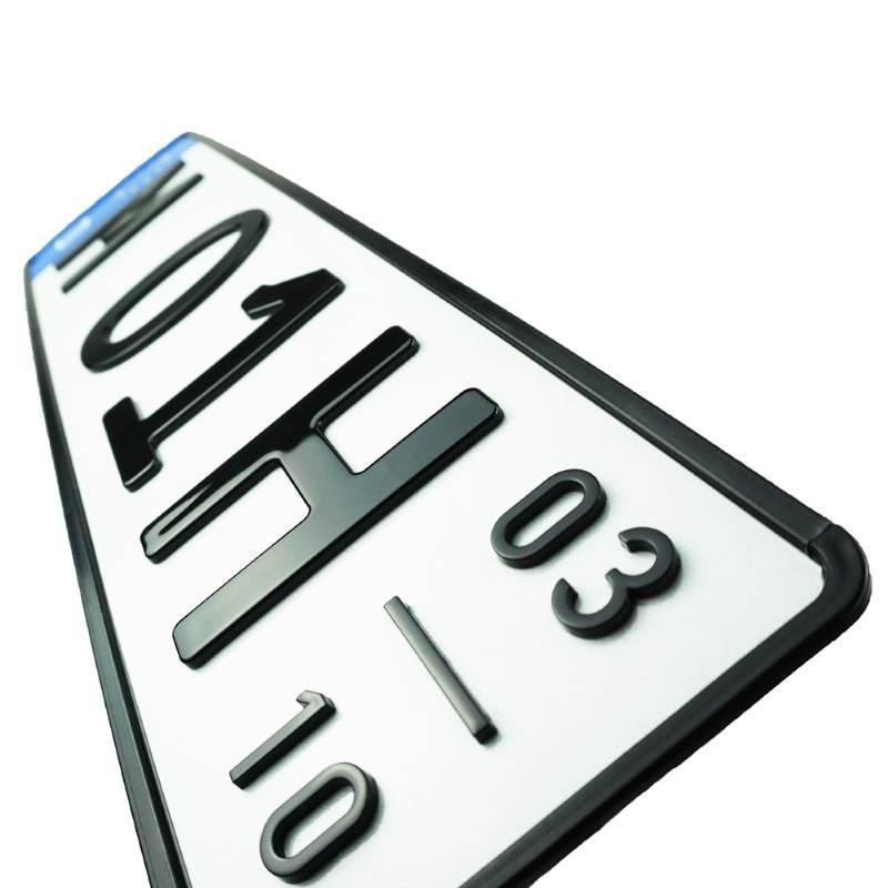 3D H-Kennzeichen mit Saison Hochglanz Kurz