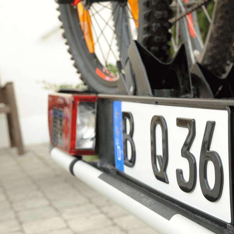 3D Kennzeichen für Fahrradträger Hochglanz kurz