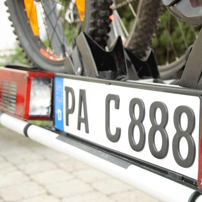 3D Kennzeichen für Fahrradträger Matt kurz