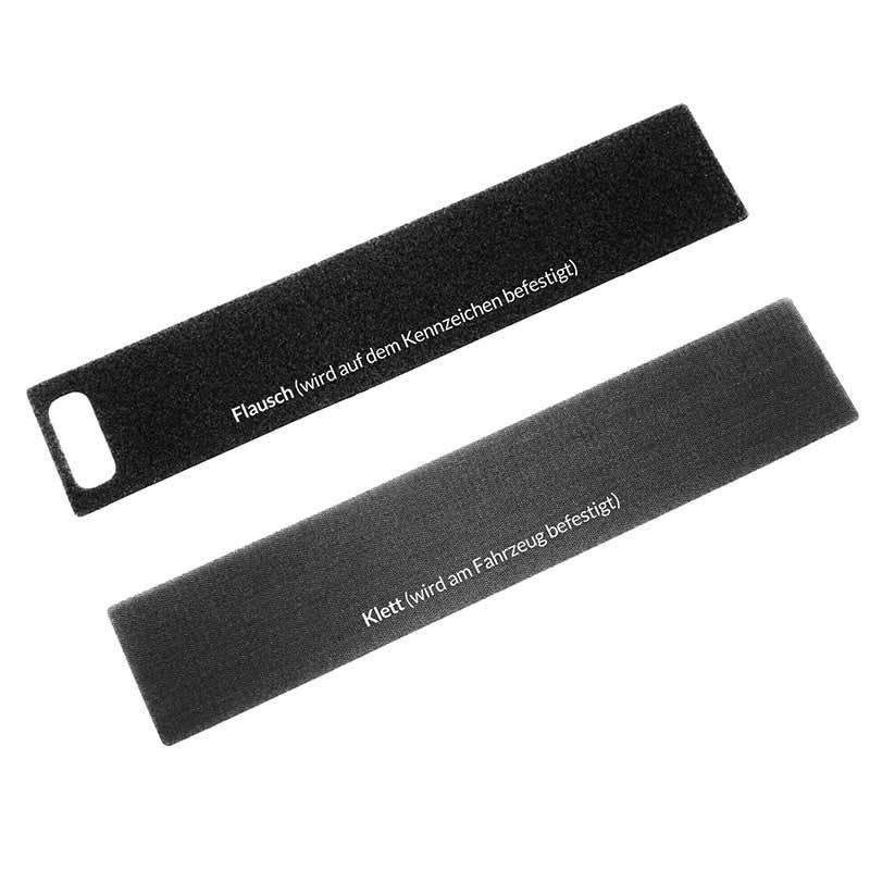 Easy Fix Ultra Kennzeichenhalter (1 Flausch, 1 Klett)