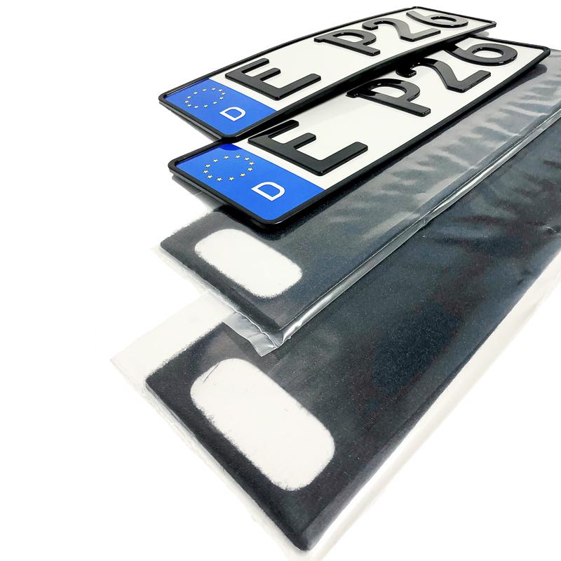 Spar-Set 3D Kennzeichen Hochglanz kurz