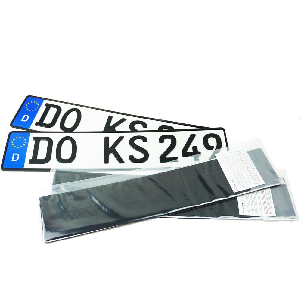 Spar-Set 3D Kennzeichen Matt 520 mm